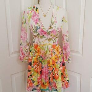 Altar'd State floral mini dress size xsmall